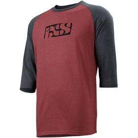 IXS Brand 6.1 3/4 Sleeve Shirt Men night red/black